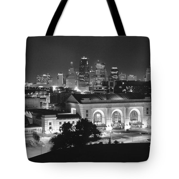 Union Station In Black And White Tote Bag