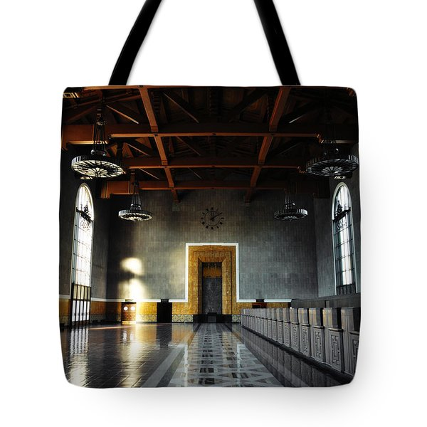 Tote Bag featuring the photograph Union Station Los Angeles by Kyle Hanson