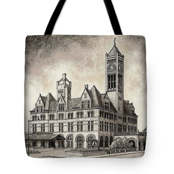 Union Station Mixed Media Tote Bag