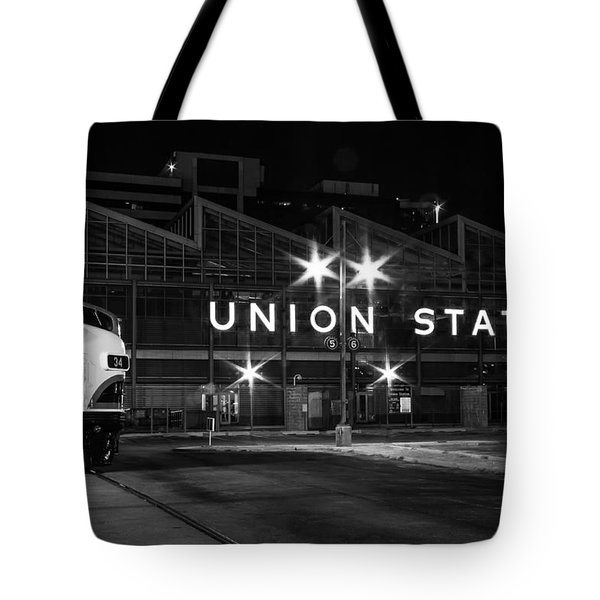 Union Station Night Glow Tote Bag