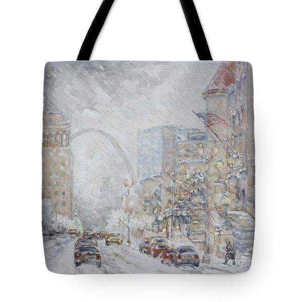 Union Station, St.louis - Winter Storm Tote Bag