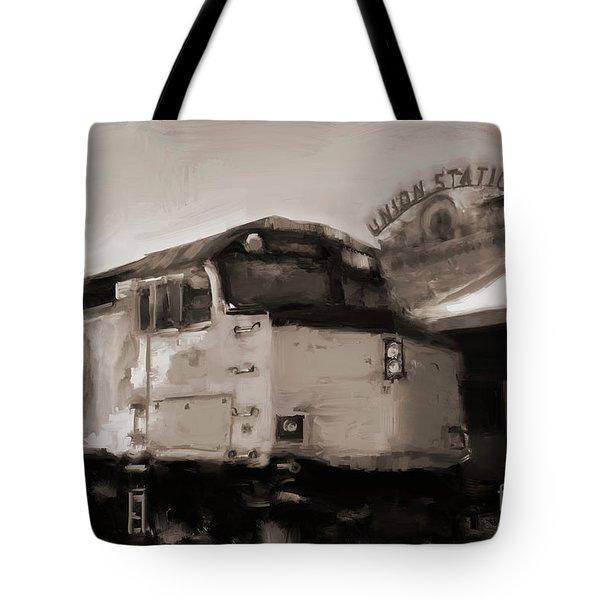 Union Station Train Tote Bag