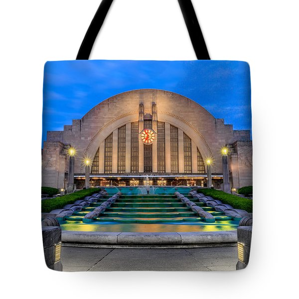 Union Terminal At Sunrise II Tote Bag by Keith Allen