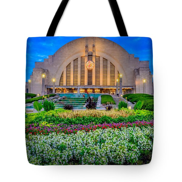Union Terminal At Sunrise Tote Bag by Keith Allen