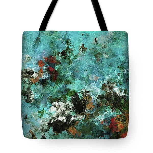 Tote Bag featuring the painting Unique Abstract Art / Landscape Painting by Ayse Deniz