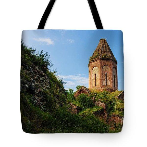 Unique Kirants Monastery On A Sunny Day, Armenia Tote Bag