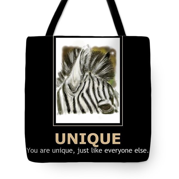 Tote Bag featuring the digital art Unique Motivational Poster by Darren Cannell