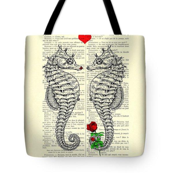 Unique Valentines Day Gift Ideas, Seahorses Tote Bag