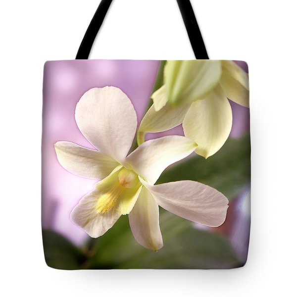 Unique White Orchid Tote Bag by Mike McGlothlen