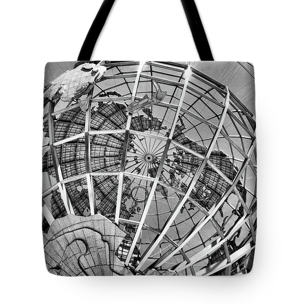 Unisphere In Black And White Tote Bag