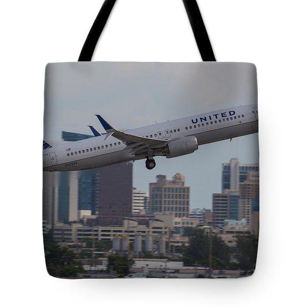 United Airlinea Tote Bag