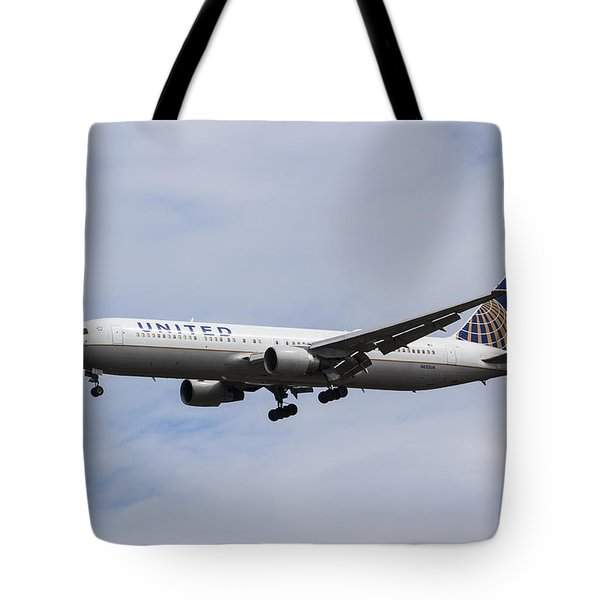 United Airlines Boeing 767 Tote Bag