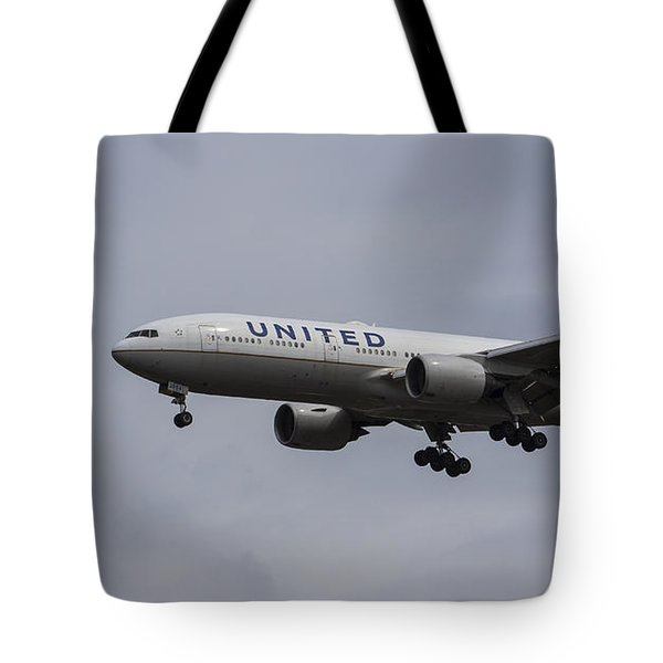 United Airlines Boeing 777 Tote Bag