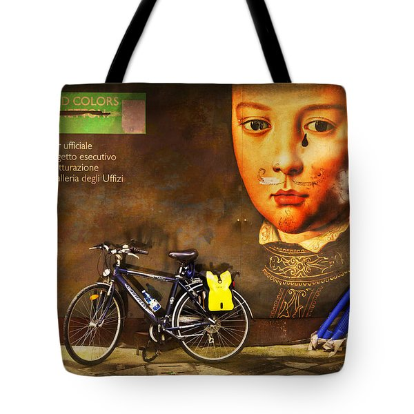 United Colors Bicycle Tote Bag by Craig J Satterlee