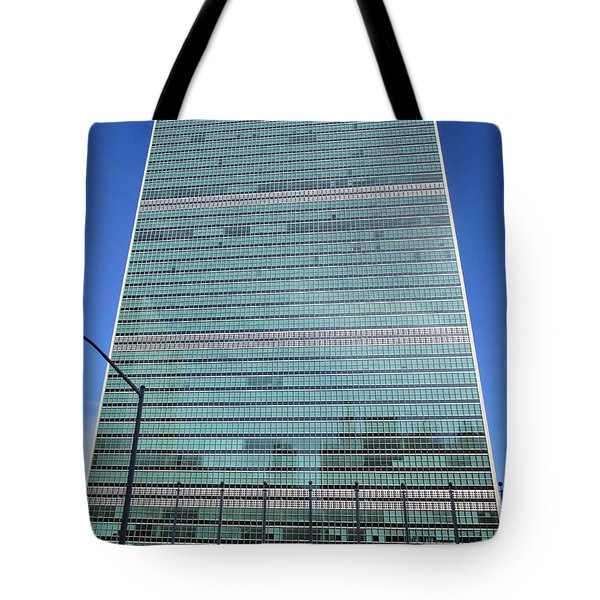 Tote Bag featuring the photograph United Nations 3 by Randall Weidner