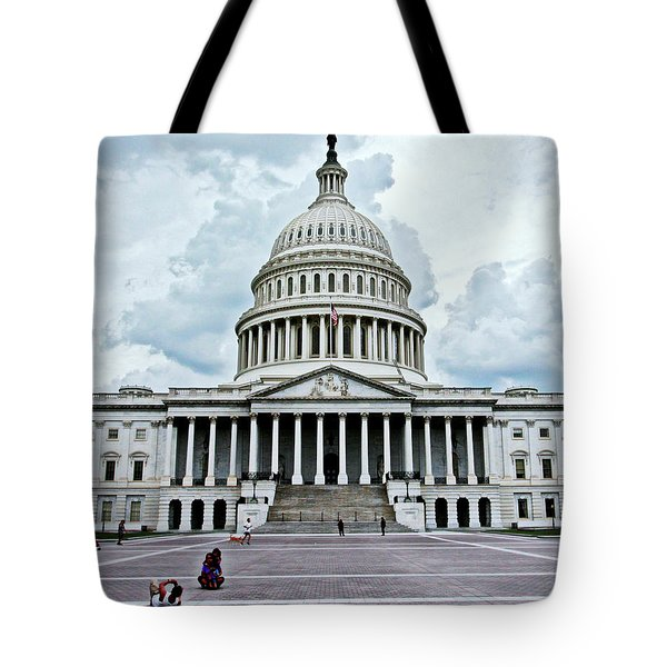 Tote Bag featuring the photograph United States Capitol by Suzanne Stout
