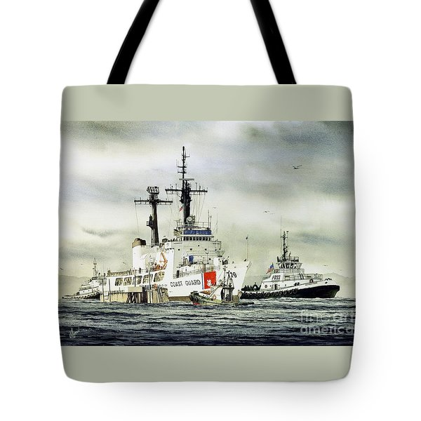 United States Coast Guard Boutwell Tote Bag by James Williamson