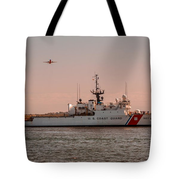 United States Coast Guard Cutter Escanaba Wmec-907 Tote Bag