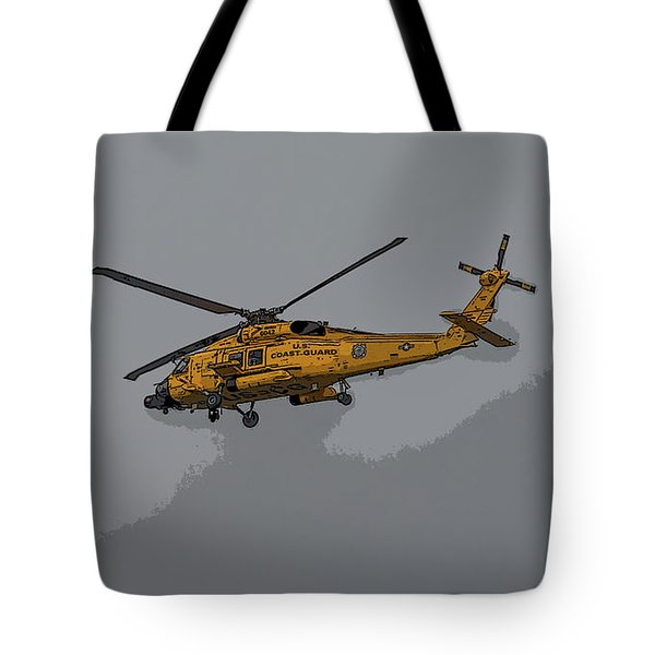 United States Coast Guard Helicopter Tote Bag