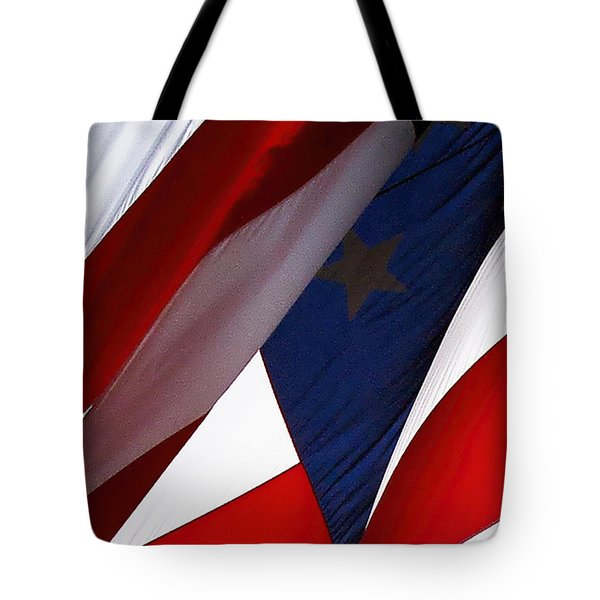United States Flag Abstract Tote Bag