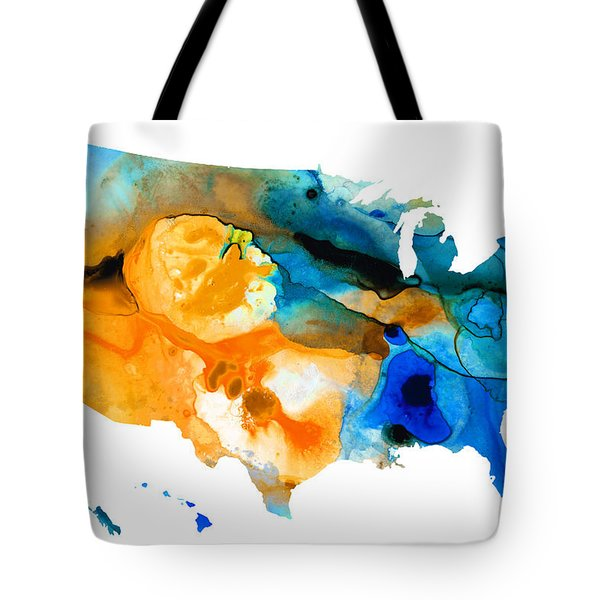 United States Map - America Map 9 - By Sharon Cummings Tote Bag