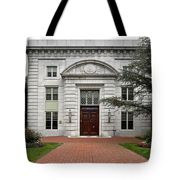United States Naval Academy - Ward Hall Tote Bag by Brendan Reals