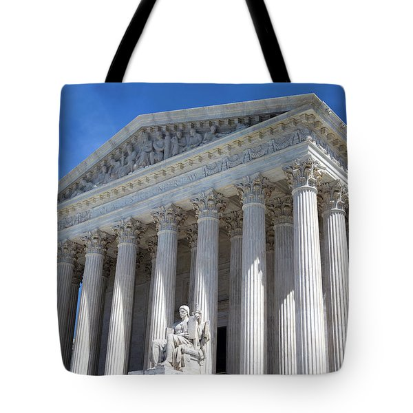 Tote Bag featuring the photograph United States Supreme Court Building by Steven Frame