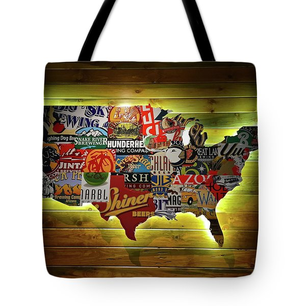 United States Wall Art Tote Bag