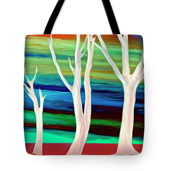 Tote Bag featuring the photograph United Trees by Munir Alawi
