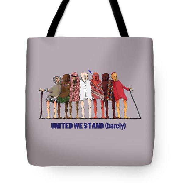 United We Stand Transparent Background Tote Bag by R  Allen Swezey