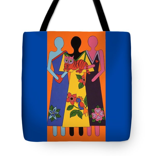 Tote Bag featuring the painting Unity 6 by Stephanie Moore