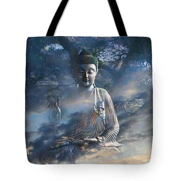Tote Bag featuring the mixed media Universal Flow by Christopher Beikmann