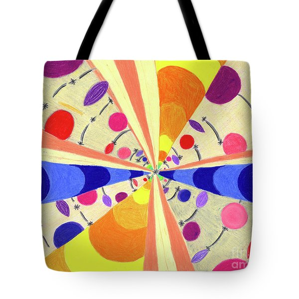 Tote Bag featuring the drawing Universals by Kim Sy Ok