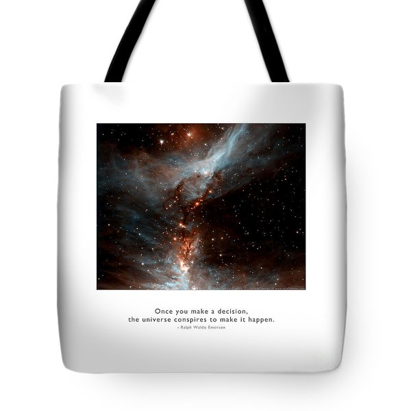 Tote Bag featuring the photograph Universe Conspires When You Decide by Kristen Fox