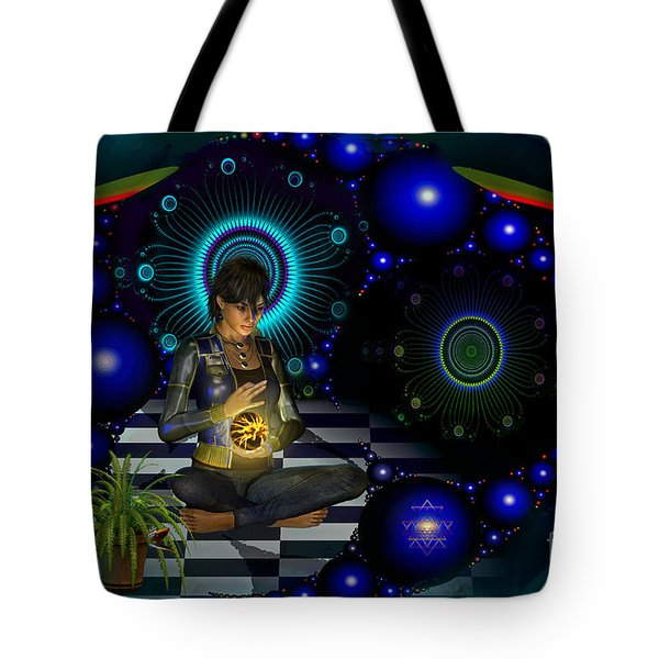 Tote Bag featuring the digital art Universe by Shadowlea Is