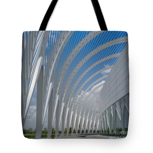 University Arching Lines Tote Bag