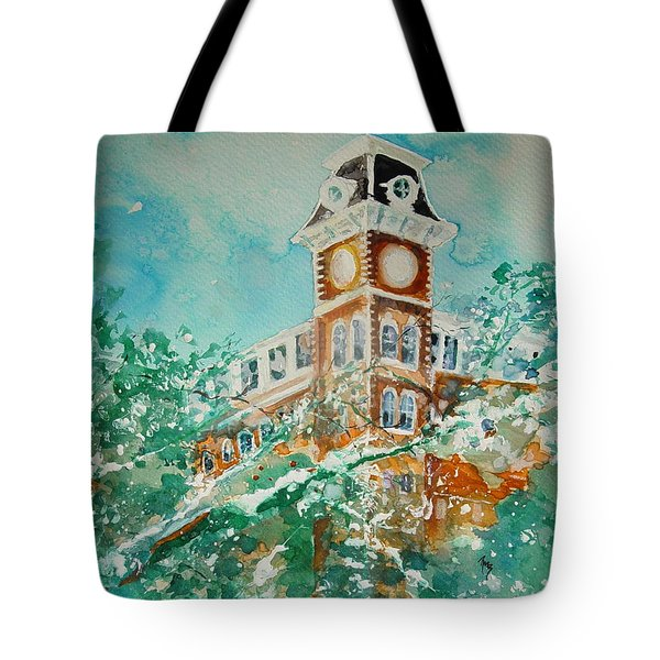 Ice On Old Main Tote Bag by Robin Miller-Bookhout