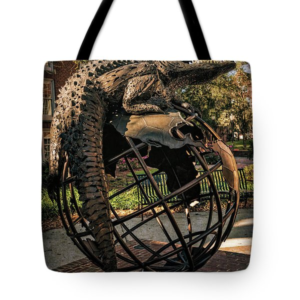 Tote Bag featuring the photograph University Of Florida Sculpture by Joan Carroll