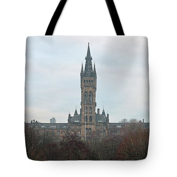University Of Glasgow At Sunrise - Panorama Tote Bag