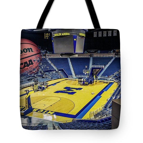 University Of Michigan Basketball Tote Bag