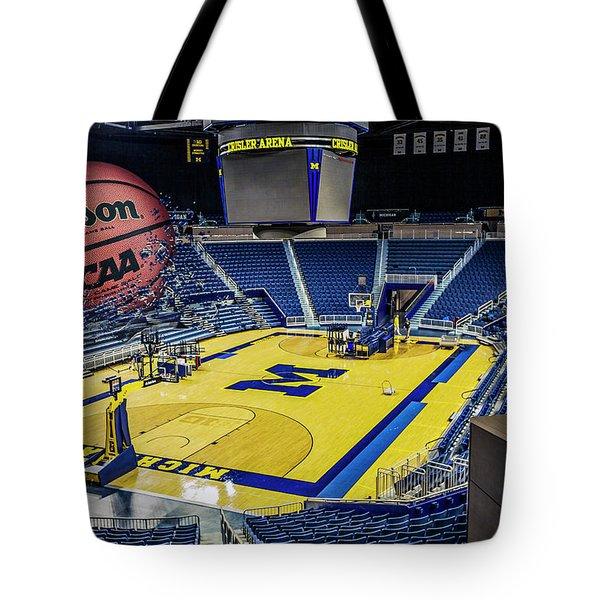 University Of Michigan Basketball Tote Bag