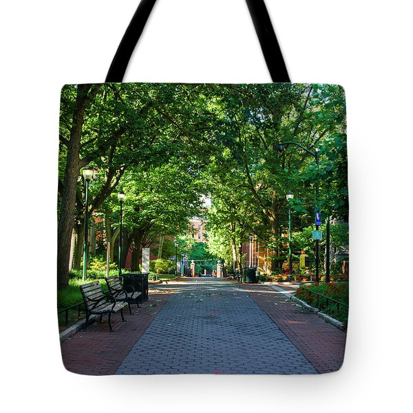 Tote Bag featuring the photograph University Of Pennsylvania Campus - Philadelphia by Bill Cannon