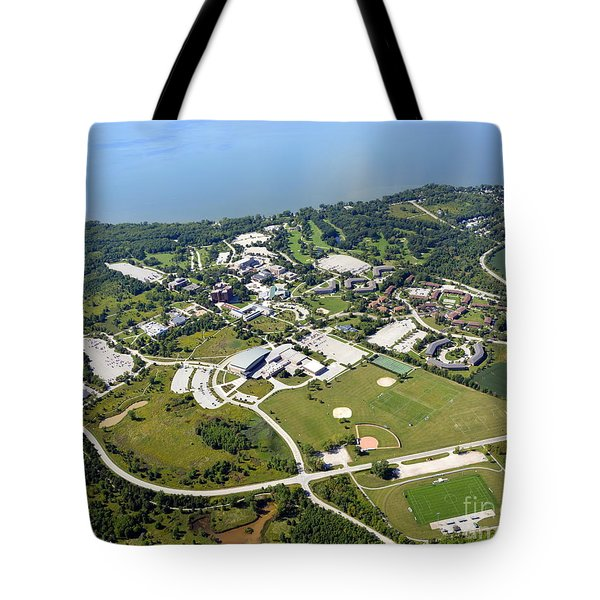 Tote Bag featuring the photograph University Of Wisconsin Green Bay by Bill Lang