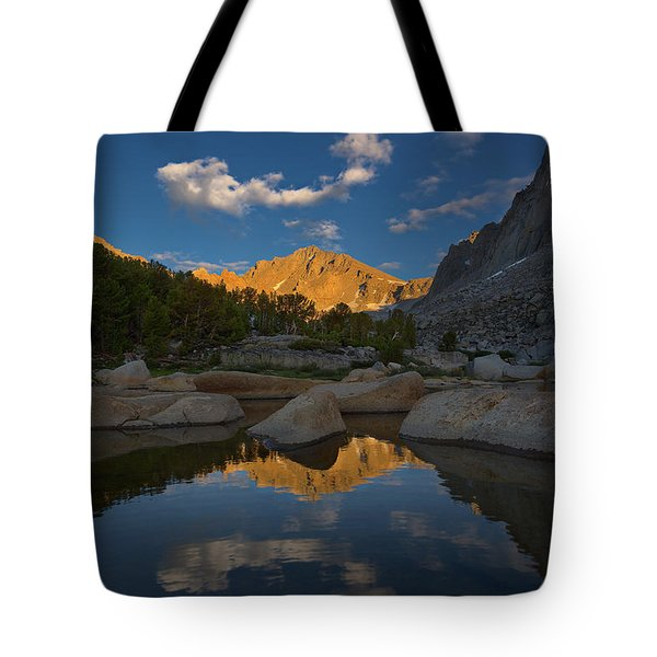 University Peak Sunset Tote Bag