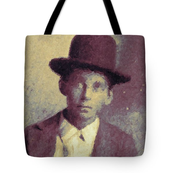 Unknown Boy In A Bowler Hat Tote Bag