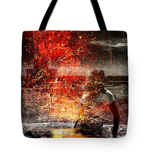 Unknown Red Tote Bag