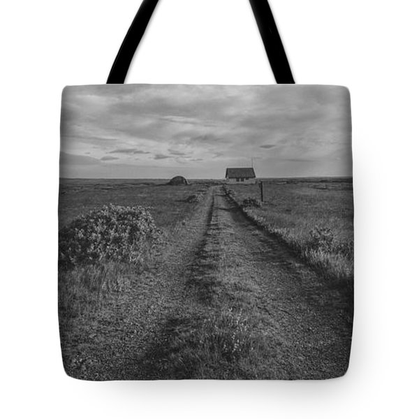 Unknown Road Bw Tote Bag