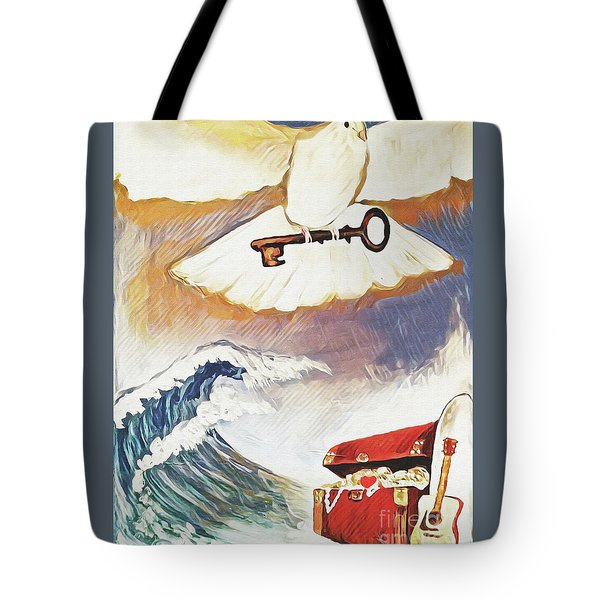 Tote Bag featuring the painting Unlocking Treasures by Jennifer Page