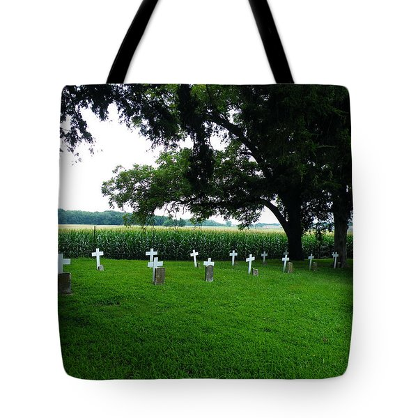 Unmarked Graves In Youth Center #4 Tote Bag by The GYPSY