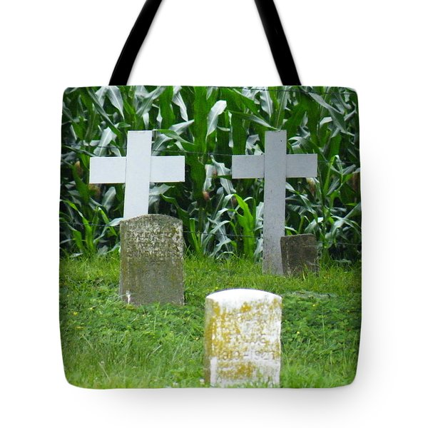 Tote Bag featuring the photograph Unmarked Youth Center Graves #1 by The Gypsy